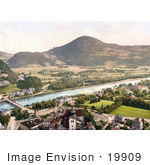 #19909 Stock Picture Of Buildings On The Banks Of The Salzach River In Salzburg Parsch Austria