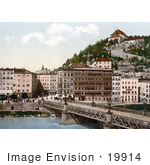 #19914 Stock Picture Of Bridge Over The Salzach River In Salzburg Austria