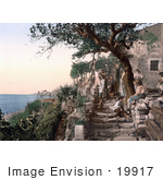 #19917 Stock Picture Of Peasants Hanging Their Laundry To Dry Trieste Istria