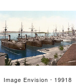 #19918 Stock Picture Of Ships In The Navy Yard At Pula Pola Istria Croatia
