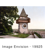#19925 Stock Picture Of The Uhrturm Clock Tower In Graz Styria Austria