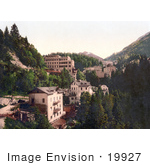 #19927 Stock Picture Of The Mountainside Spa Town Of Bad Gastein And The Kaiser Promenade In Salzburg Austria