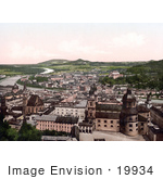 #19934 Stock Picture Of The Salzach River Flowing Through The City Of Salzburg Austria