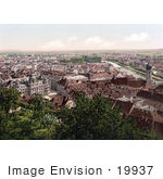 #19937 Stock Picture Of Graz As Seen From The Schlossberg Styria Austria
