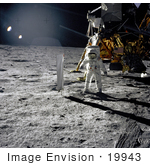 #19943 Stock Picture of Astronaut Edwin Eugene Aldrin JR on the Moon by JVPD
