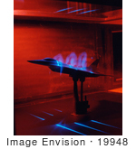 #19948 Stock Picture Of An F-16xl Scamp Flow Visualization Test