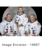#19957 Stock Picture of Neil Armstrong, Michael Collins, and Buzz Aldrin in Space Suits by JVPD