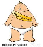 #20052 New Year'S Baby Clipart
