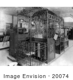 #20074 Stock Photography: Old Fashioned Elevator Car in 1896 by JVPD