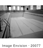 #20077 Stock Photography: Empty Tiled Indoor Swimming Pool At The Ywca