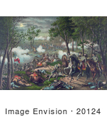 #20124 Stock Photography: The Union Army And Confederate Army At The Battle Of Chancellorsville American Civil War