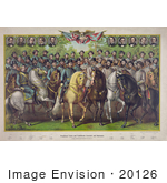 #20126 Stock Photography: Prominent Union And Confederate Generals And Statesmen On Horses