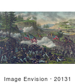 #20131 Stock Photography: Battle Of Chickamauga Between The Union Army Of The Cumberland And The Confederate Army Of Tennessee