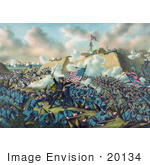#20134 Stock Photography: The Capture Of Fort Fisher In 1865