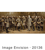 #20136 Stock Photography: General Robert E Lee With His Generals