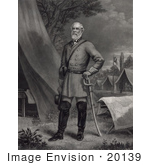 #20139 Stock Photography: Confederate General Robert Edward Lee