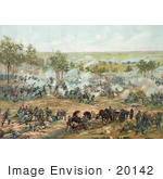 #20142 Stock Photography: The Battle Of Gettysburg