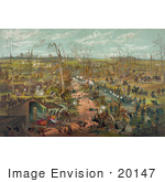#20147 Stock Photography: The Battle Of Shiloh In 1862