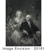 #20181 Stock Photo Of George Washington And Family