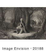#20188 Stock Photography: The Prayer at Valley Forge, George Washington Praying by JVPD