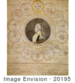 #20195 Stock Photography: George Washington And 13 State Seals
