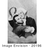 #20196 Stock Photography: Abraham Lincoln Embracing George Washington by JVPD