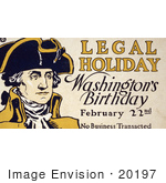 #20197 Stock Photography: George Washington's Birthday by JVPD