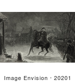 #20201 Stock Photography: George Washington Leading the Continental Army at the Battle of Trenton by JVPD