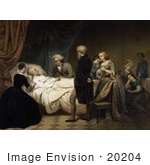 #20204 Stock Photography: George Washington On His Death Bed