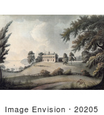 #20205 Stock Photography: George Washington'S Home At Mount Vernon On The Potomac River