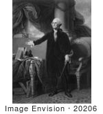 #20206 Stock Photography: George Washington Holding A Sword