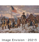 #20215 Stock Photography: George Washington on Horseback at Valley Forge by JVPD