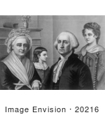 #20216 Stock Photography: George Washington And Family At Mount Vernon