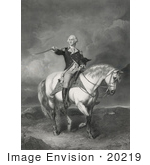 #20219 Stock Photography: George Washington On Horseback