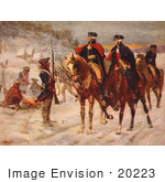 #20223 Stock Photography: George Washington And Marquis De Lafayette At Valley Forge
