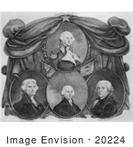 #20224 Stock Photography: George Washington, Thomas Jefferson, James Madison, and John Ada by JVPD