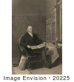 #20225 Stock Photography: President John Quincy Adams Reading In A Library