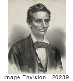 #20239 Historical Stock Photography: The 16th American President Abraham Lincoln