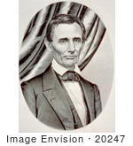 #20247 Historical Stock Photography: Portrait Of The 16th American President Abraham Lincoln