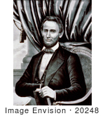 #20248 Historical Stock Photography: Abraham Lincoln Seated And Holding A Book