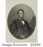 #20250 Historical Stock Photography: Abraham Lincoln Sitting In A Chair