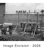 #2026 Hanging Hooded Bodies of the Four Conspirators of the Lincoln Assassination by JVPD