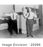 #20266 Historical Stock Photography: Calvin Coolidge and Frederick Huntington Gillett Working Out in a Gym by JVPD