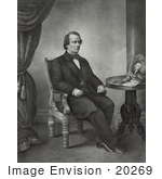 #20269 Historical Stock Photography: 17th President Of The Usa Andrew Johnson