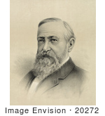 #20272 Historical Stock Photography: Benjamin Harrison The 23rd American President