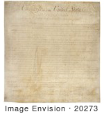 #20273 Historical Stock Photo Of The United States Bill Of Rights The First 10 Ammendments To The United States Constitution