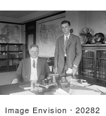 #20282 Historical Stock Photo: The 31st American President Herbert Clark Hoover And His Son Allen Hoover