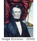 #20302 Historical Stock Photo Of The 14th American President Franklin Pierce
