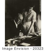 #20323 American History Stock Photo Of President Woodrow Wilson And First Lady Edith Bolling Galt Wilson
