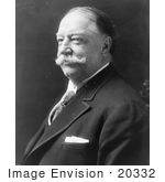 #20332 Historic Stock Photo of 27th President of the United States, William Howard Taft by JVPD